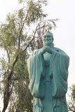 Confucius stone statue Stock Photography