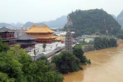 Confucius tempel i Luzhou Arkivbild