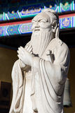 Confucius Temple in Beijing, China. Stone Statue of Confucius at the Confucian Temple in Beijing, China Royalty Free Stock Images