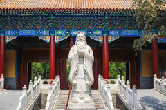 Confucius temple, Beijing, China. Statue of Confucius at the entrance to Confucius temple, Beijing, China Stock Image