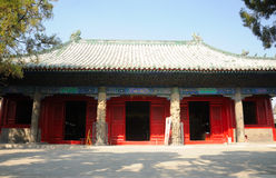 Confucius Temple buildings in Qufu Stock Photo