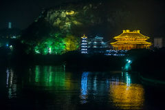 Confucius temple with classical landscape at night Stock Photo