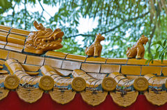 Confucius Temple and mythical beasts Stock Photos