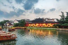 Confucius Temple in Nanjing large screen wall Stock Photos