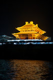 Confucius temple at night Stock Photos