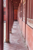 Confucius temple pillars Royalty Free Stock Photography