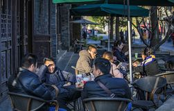 Confucius Temple Roadside Cafe stock photos