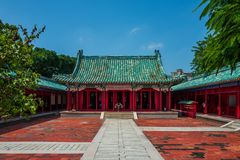 The Confucius temple in Tainan, Taiwan. stock image