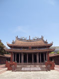 Confucius Temple in Taiwan. Under the blue sky the solemn atmosphere of Confucius Temple Royalty Free Stock Photography