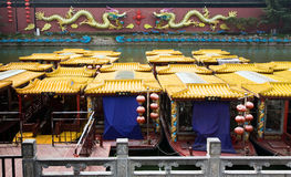 Confucius Temple Tour Boats Stock Photos