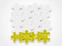 Confunda as partes que formam um gráfico da ilustração do vetor do bloco isolado no fundo Imagens de Stock