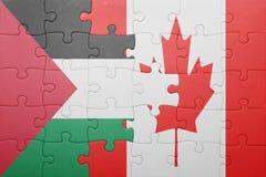 Confunda com a bandeira nacional de Canadá e de Palestina imagem de stock