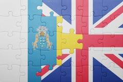 Confunda com a bandeira nacional de Grâ Bretanha e de Ilhas Canárias Imagens de Stock