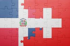 confunda com a bandeira nacional de switzerland e de dominican ilustração do vetor