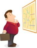 Confunda o mapa da leitura Fotos de Stock