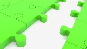 Confunda partes na cor verde com o um azul faltante ilustração do vetor