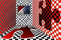 Sala com vista na terra Imagens de Stock