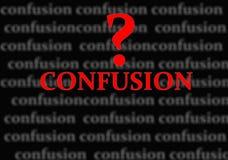 Confusão ilustração stock