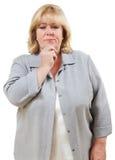 Confusão da mulher Fotos de Stock Royalty Free