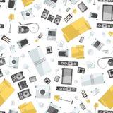 Confusão do dispositivo da casa dos ícones do colorfull sem emenda Fotografia de Stock