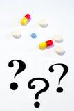Confusão do tratamento da medicamentação imagem de stock royalty free