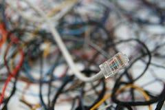Confusão dos cabos imagens de stock royalty free