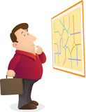 Confuse reading map stock illustration