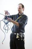 Confuse technician Stock Photo