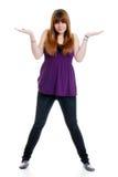 confused женский подросток Стоковая Фотография