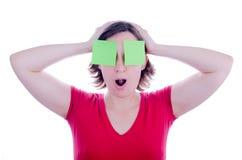 Confused женщина Стоковое Изображение RF