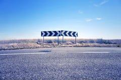 Confused знаки дорожного движения Стоковое Изображение