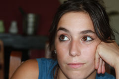 confused подросток стоковые фотографии rf