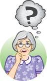 confused старшая женщина Иллюстрация штока