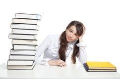 confused студент девушки Стоковое Изображение