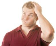 Confused человек Стоковое Фото