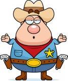 confused шериф Стоковая Фотография RF