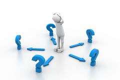 confused вопросы Стоковая Фотография RF