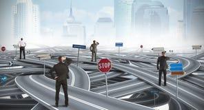 Confused путь бизнесмена Стоковые Фотографии RF