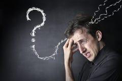 confused человек Стоковое Изображение