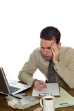 Confused Accountant Royalty Free Stock Photo