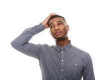 Confused african american man Royalty Free Stock Photography