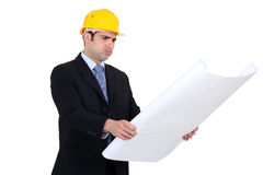 Confused architect Royalty Free Stock Image