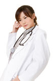 Confused Asian doctor Stock Photo