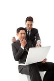 Confused Asian managers Royalty Free Stock Image
