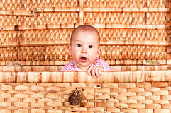 Confused baby Stock Photo