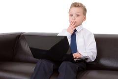 confused barn för pojke Royaltyfria Bilder
