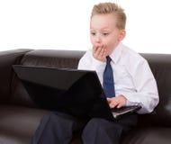 confused barn för pojke Arkivbilder