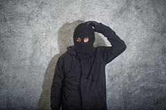 Confused burglar Stock Image