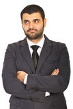Confused business man Stock Photo