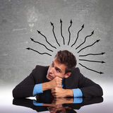 Confused business man Stock Images